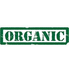 Green stamp oragnic vector image