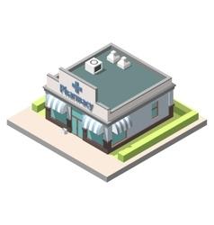 isometric pharmacy Isolated on white vector image