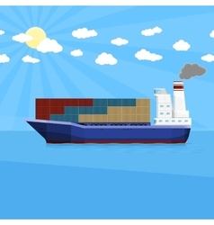 Sea cargo shipping vector