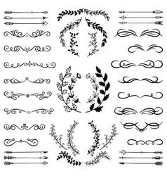 Set of Doodle Design Elements vector image vector image
