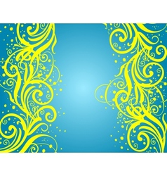 Abstract blue-yellow background vector image vector image