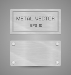 Metal texture label for background vector image