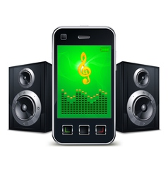 mobile phone with speakers vector image vector image