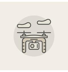 Quadrocopter colorful icon vector image