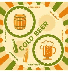 Beer poster design vector image