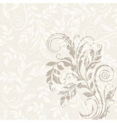 EPS10 decorative floral background vector image vector image