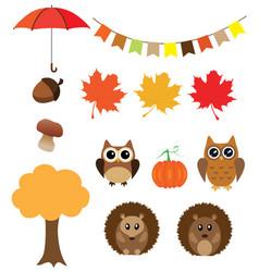fall animals vector image