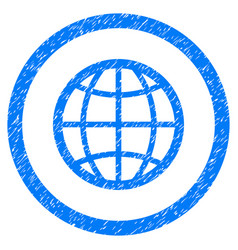 globe rounded grainy icon vector image