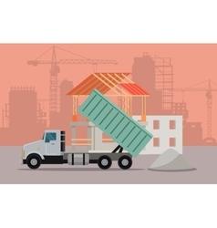 Trucking Banner Cargo Concept Truck Tipper vector image vector image