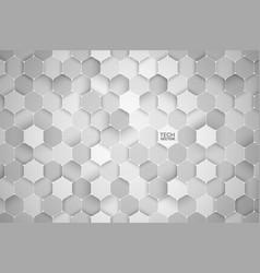 3d technology hexagonal abstract background vector