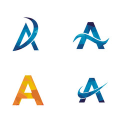 a letter logo vector image