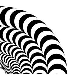 A quarter of circle vector