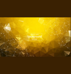 abstract yellow geometric polygonal background vector image