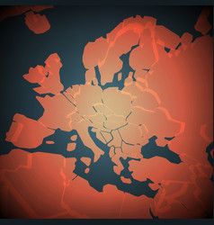 Africa and europe abstract map vector
