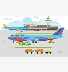airport arrivals at airport and departures travel vector image