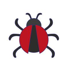 Antivirus bug technology symbol blue lines vector
