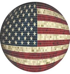 Ball with USA flag vector image