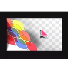 Beautiful gift card vector image