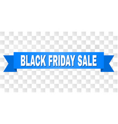 Blue stripe with black friday sale caption vector