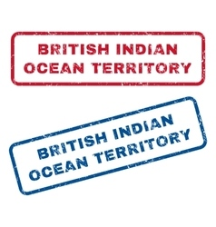 British Indian Ocean Territory Rubber Stamps vector image
