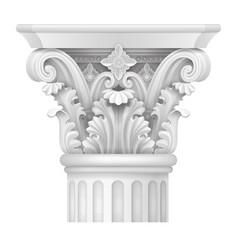 Capital corinthian column vector
