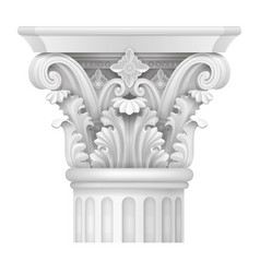 Capital of corinthian column vector