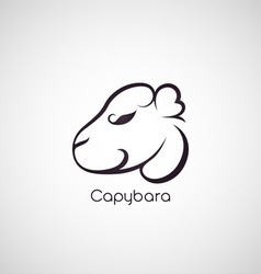 Capybara logo vector