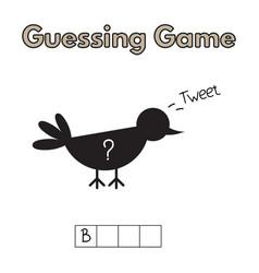 cartoon bird guessing game vector image