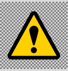 caution triangle sign vector image