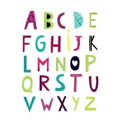 cheerful alphabet vector image