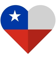 Chile flat heart flag vector