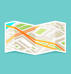 city street address navigation road folded paper vector image