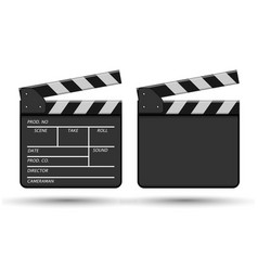 Clapperboard devices for using in cinematography vector