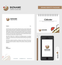coconut business letterhead calendar 2019 and vector image