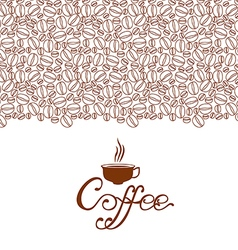 Cofee contour brown vector