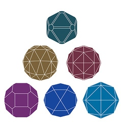 Collection of 6 single color complex dimensional vector
