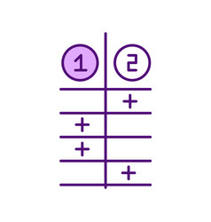 comparison list rgb color icon vector image