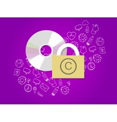 copyright protection digital secure data vector image