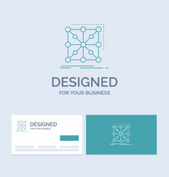 data framework app cluster complex business logo vector image