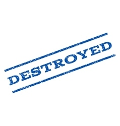 Destroyed Watermark Stamp vector image