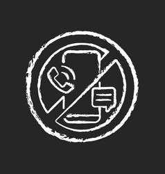 digital detox chalk white icon on dark background vector image