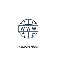 domain name concept line icon simple element vector image
