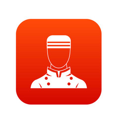 Doorman icon digital red vector