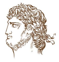 Emperor nero vintage drawing vector