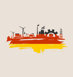energy and power icons set brush stroke vector image