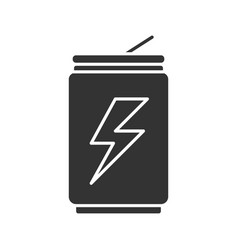energy drink can glyph icon vector image