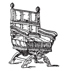 English arm chair vintage vector