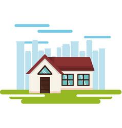 exterior house facade icon vector image