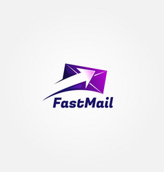 Fast send email logo sign symbol icon vector