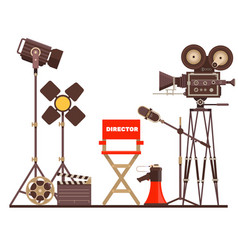 film directors workplace chair megaphone vector image